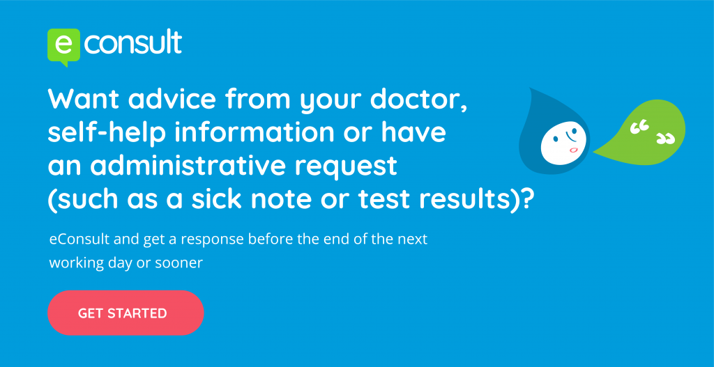 contact your doctors online and get a response by the end of the next working day